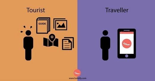 Bản đồ, ứng dụng note, sách hướng dẫn du lịch, khách du lịch có tư tưởng an toàn, chắc chắn. Còn với phượt thủ, chỉ cần ứng dụng 'smartphone' là đủ, bị lạc càng tốt.