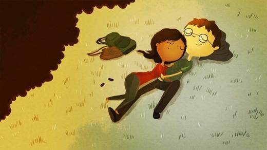 Rồi dừng chân nghỉ ngơi trên một bãi cỏ sau những chuyến đi mệt nhọc. Anh sẽ làm chiếc gối êm cho em tựa đầu nhé!