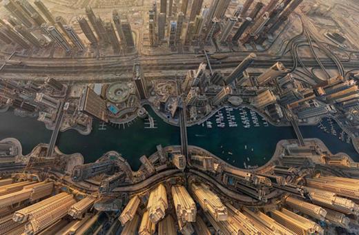 Dubai càng đẹp lộng lẫy dưới góc chụp từ trên cao.