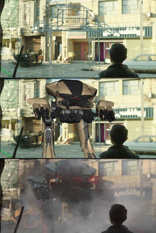 Một khung cảnh 'hư cấu' trong phimRobocop