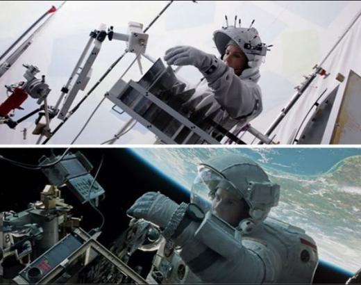 Khung cảnh ngoài vũ trụ cũng được 'biến tấu' hết sức huyền ảo