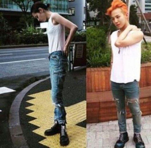 G-Dragon và bạn gái Kiko cùng diện một phong cách, đến cả dáng chụp cũng tương tự nhau. - Tin sao Viet - Tin tuc sao Viet - Scandal sao Viet - Tin tuc cua Sao - Tin cua Sao