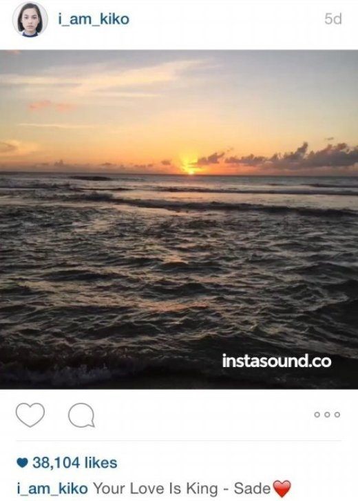 Cặp đôi cập nhật hình ảnh về biển tại cùng thời điểm. - Tin sao Viet - Tin tuc sao Viet - Scandal sao Viet - Tin tuc cua Sao - Tin cua Sao