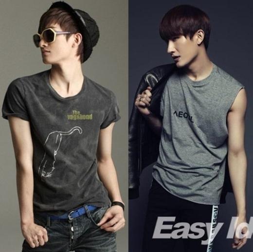 Từ thân hình gầy nhom như thế, để sở hữu dáng vóc như hiện nay của Zhoumi (Super Junior) hoàn toàn không phải là điều dễ dàng.