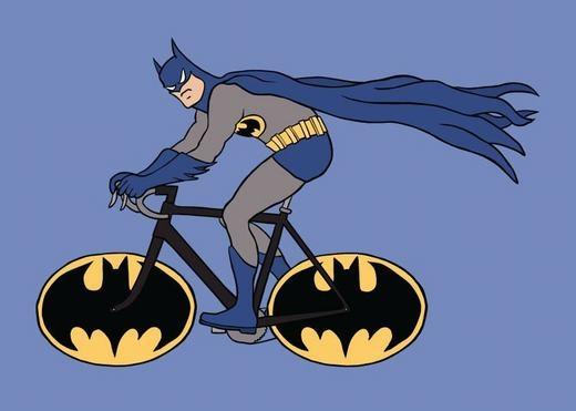 Các siêu anh hùng với xe đạp mang đậm cá tính của mình.