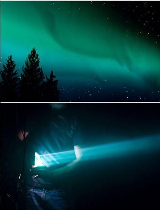 Cực quang thực chất được tạo từ đèn màu.