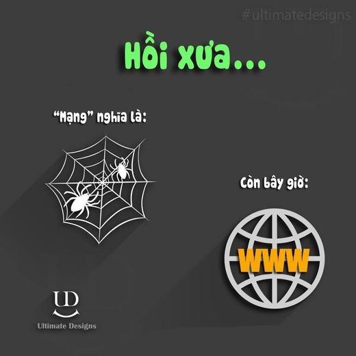 Kể từ khi có Internet, từ 'mạng' vốn 'thân quen' với loài nhện cũng đã bị 'chiếm hữu'.