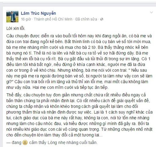 Câu chuyện được bạnLâm Trúc Nguyễn chia sẻ