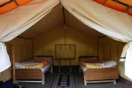 Nội thât bên trong một căn lều khá đơn giản và dễ thương
