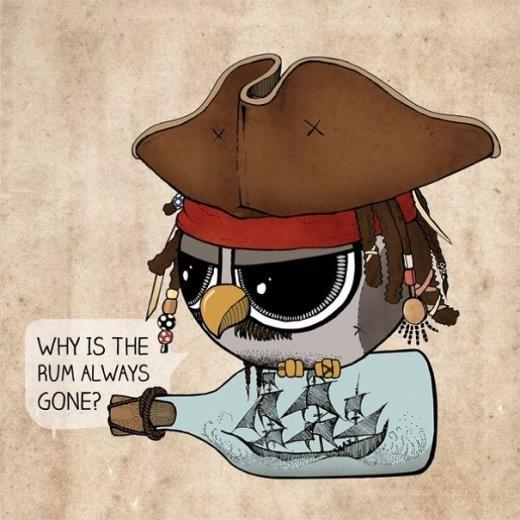 'Tớ là cướp biển vùng Caribe đấy nhé!'.