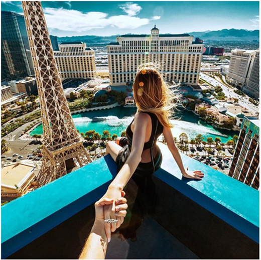 Thành phố Las Vegas từ trên cao vô cùng tuyệt mĩ.