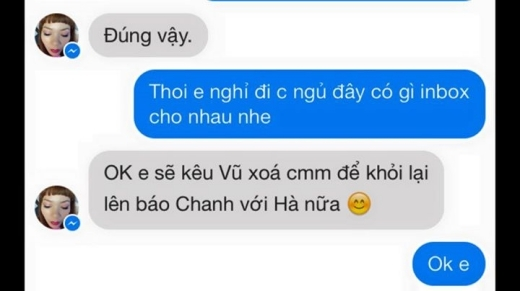 Cuối cùng nữ ca sĩ Hà Trần đã phải nhắn người bạn của mình xóa bình luận của hai chị em đi để 'tránh' việc bị lên báo. - Tin sao Viet - Tin tuc sao Viet - Scandal sao Viet - Tin tuc cua Sao - Tin cua Sao