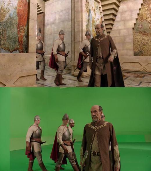 Những hành lang của lâu đài...