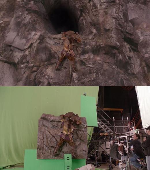 Cảnh tượng 'thập tử nhất sinh' này thực chất cũng không có gì, và diễn viên cực kì an toàn.