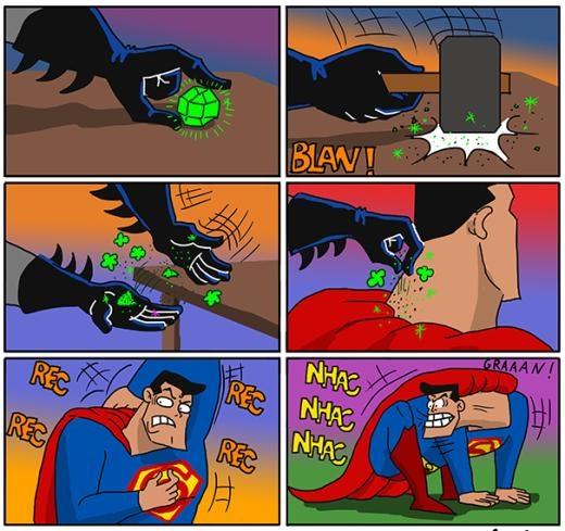 Khi Superman bị Batman chơi khăm.