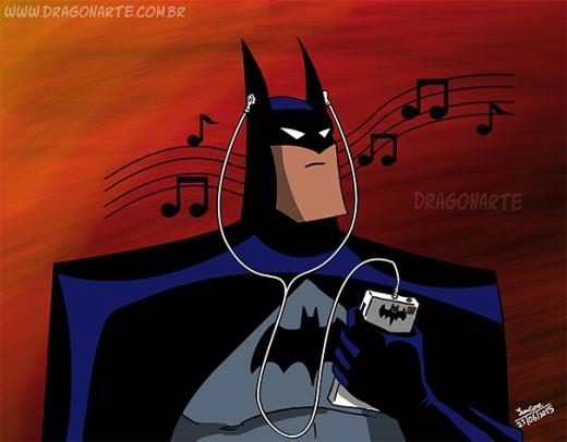 Khi Batman nghe nhạc. Bạn thấy có 'phong cách' không?