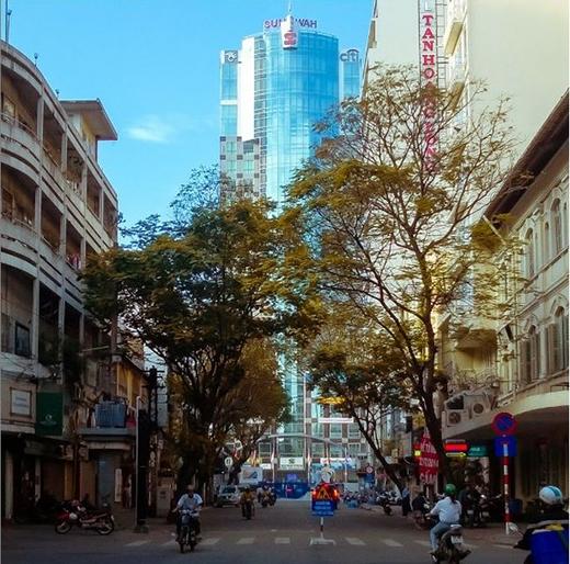 Buổi sáng Sài Gòn và những con đường thưa người qua lại. (Ảnh: IG kaganagi)