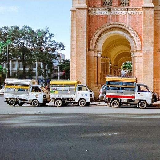 Những chiếc xe lam vẫn luôn là sự lựa chọn của không ít người dân Sài Gòn hiện nay. (Ảnh: IG kaganagi)