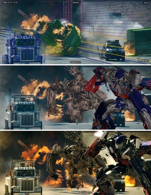 Cảnh trong phim Transfomer cũng vận dụng CGI khá nhiều