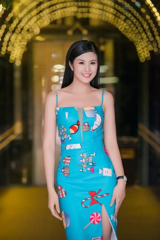 Hoa hậu Ngọc Hân cũng có mặt tại sự kiện. - Tin sao Viet - Tin tuc sao Viet - Scandal sao Viet - Tin tuc cua Sao - Tin cua Sao