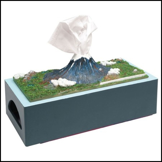 Hộp khăn giấy hình núi Phú Sĩ.