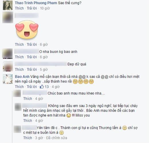 Những bình luận thăm hỏi của các fan và người quen dành cho Bảo Anh. - Tin sao Viet - Tin tuc sao Viet - Scandal sao Viet - Tin tuc cua Sao - Tin cua Sao