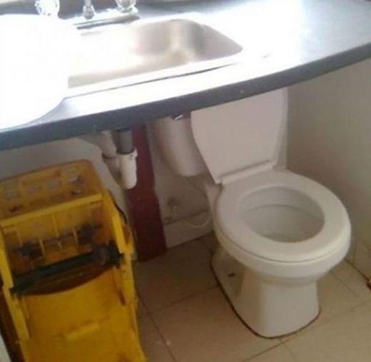 Thử thách bản thân cả trong lúc đi vệ sinh mới 'phong cách'.