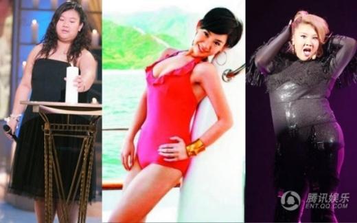 Trịnh Hân Nghi -người đẹp Hồng Kông sinh ra có vóc dáng tròn trịa do di truyền từ mẹ là nữ nghệ sĩ quá cố nổi tiếng Thẩm Điện Hà. Sau một thời gian ép cân, hiện cô lại trở về vóc dáng gần 100kg.