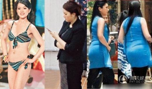 Hoa hậu Câu Vân Tuệ đánh mất sự nghiệp vì tăng cân.