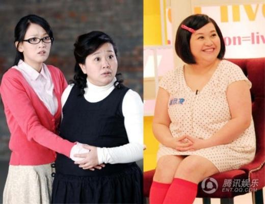 Người đẹp quen thuộc của màn ảnh Đài Loan dù béo ú - Lâm Mĩ Tú.