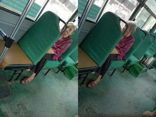 Hình ảnh đăng kèm trong bài viết của cô nhân viên xe buýt.