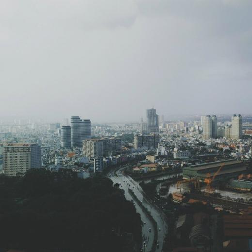 Sài Gòn ngày mưa với không khí u buồn. (Ảnh: IG kaganagi)