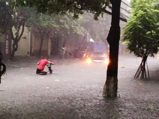 Hình ảnh mưa lũ kinh hoàng tại Quảng Ninh.