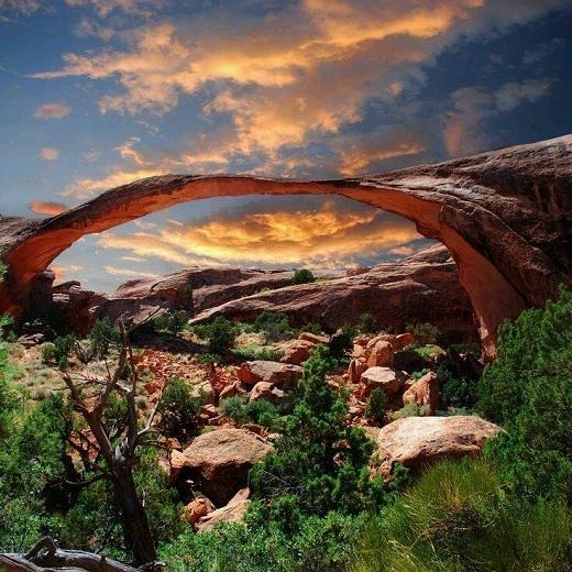 Arches có nghĩa là cấu trúc vòng cung hay 'vòm' như móng chuồng, cung tên. Vườn quốc gia Arches có đến hơn 2.000 vòm cát kết hay vòm sa thạch.