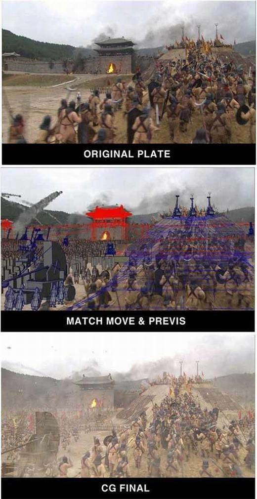 Đội quân hàng vạn người thực chất chỉ có vài chục người, tất nhiên là cộng thêm công nghệ CGI.