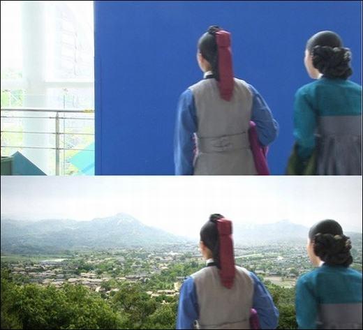Đây là cảnh quay trong phim Dong Yi (Hoàng cung dậy sóng).