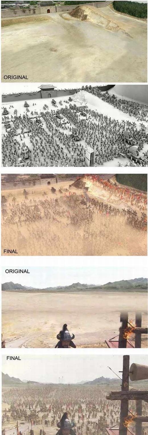 Đội quân hùng dũng thực chất chỉ là một... bãi đất trống.