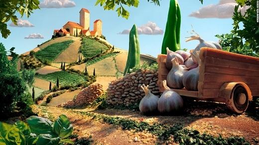 Carl là một fan bự của ẩm thực Ý và anh đã tái hiện lại khung cảnh vùng Tuscany xinh đẹp của Ý một cách hoàn hảo.