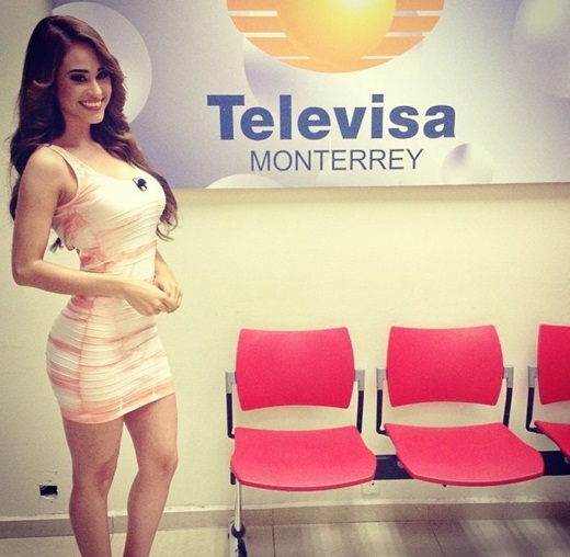 Hình ảnh nóng bỏng của Yanet Garcia trên truyền hình.