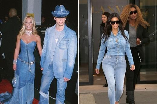 Britney SpearsvàJustin Timberlake(trái) vàKimKardashian (phải)