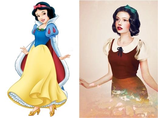 Công chúa Bạch Tuyết mang vẻ đẹp trong trẻo, ngây thơ của thiếu nữ mới lớn.