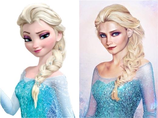 Cô chị Elsa lại cực kì sắc sảo với nụ cười cá tính làm nên thương hiệu.