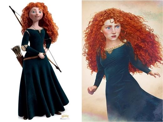 Công chúa xinh đẹpMerida trông thật mạnh mẽ và dũng cảm.