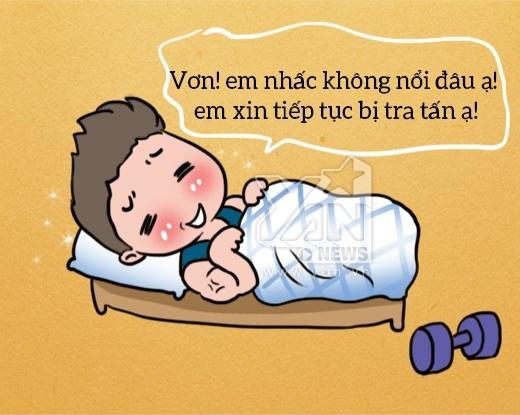 #5. Thường thì những chàng trai lực lưỡng, cơ bắp lại không mấy khi có đủ sức gấp lại cái chăn của mình vào buổi sáng.