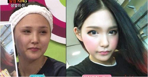 Trong khi đó, mặt mộc của hot girl Lee Xi Jing lại nhợt nhạt và không có điểm nhấn.