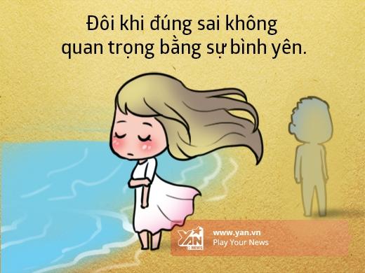 Hãy tập giữ lòng thanh thản trước những sóng gió, bạn sẽ cảm thấy dễ chịu hơn.