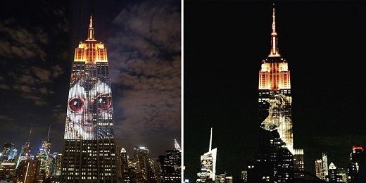 Màn trình diễn vào tối thứ bảy này có tên làProjecting Change: The Empire State Building.