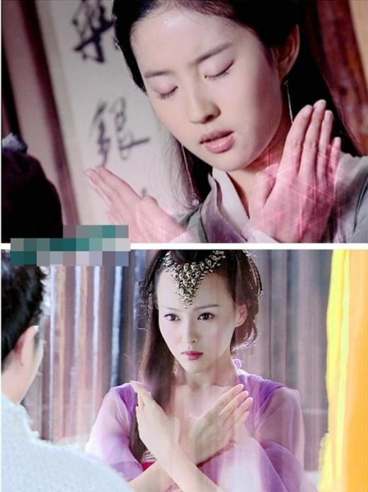 Triệu Linh Nhi của Lưu Diệc Phi và nhân vật của Đường Yên trong cảnh vận công.
