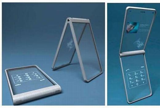 Còn đây là mẫu điện thoại trong suốt, dạng vỏ sò đẹp mắt.
