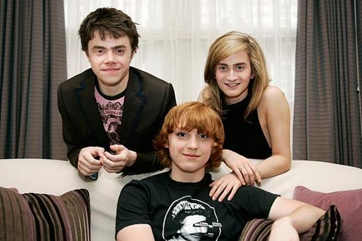 Emma Watson, Daniel Radcliffevà Rupert Grint